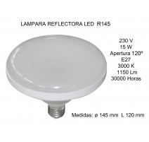 LÁMPARA REFLECTORA LED R145 15W E27 3000K
