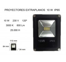 PROYECTOR LED EXTRAPLANO 10W 3000K