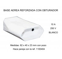 PACK 5 - BASE AEREA 62x40x23mm. 10A. 250V.