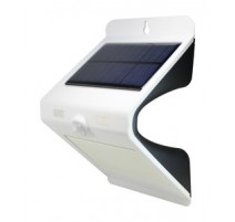 APLIQUE SOLAR RECARGABLE LED PARA PARED. IP65 COLOR BLANCO