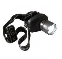 LINTERNA FRONTAL LED 3W CON ZOOM SUPER ALTO BRILLO.