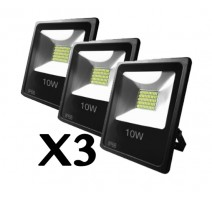 PACK DE 3 - FOCOS EXTERIOR LED IP66 - 10W