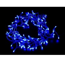 GUIRNALDA 100 BOMBILLAS LED DE INTERIOR - COLOR AZUL 9.2W - LONGUITUD 10.5m