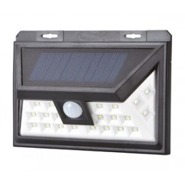 Aplique solar LED recargable, de pared 5w.